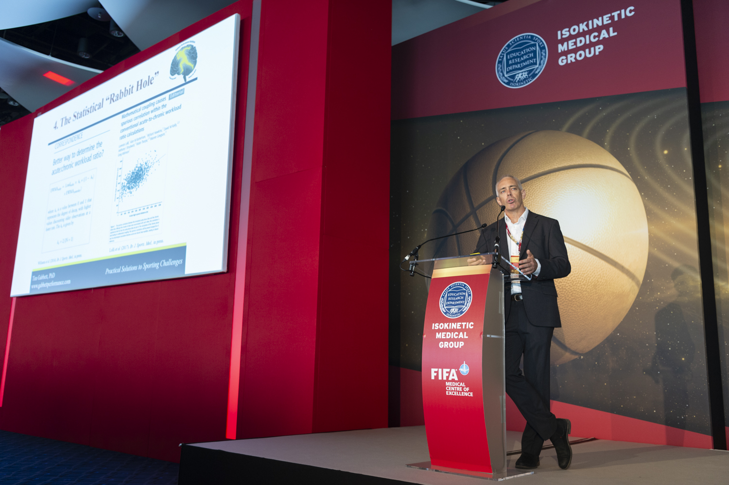 Presenting at the World Congress on Science and Football