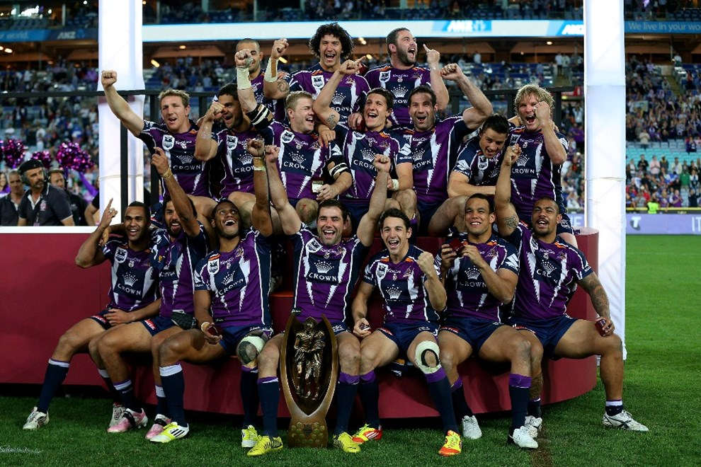 Analyzing match data of premiership-winning Melbourne Storm